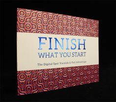 Finish your printed pieces with digital spot varnish or digital foil. Call us to find out how to make your printed material stand out from the rest.  #digitalvarnish #digitalfoil #printingsolutions
