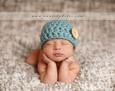 baby boy crochet beanies - Google Search