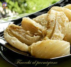 Finocchi al parmigiano, gustosissimo contorno molto semplice da preparare, ideale per accompagnare pietanze a base di carne.