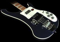 Rickenbacker 4003 electric bass guitar in midnight blue