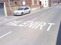 à #Malincourt dans le #Nord la #DDE fait quelques bourdes au sol !  #Ralenirt ou #Ralentir il faut choisir...