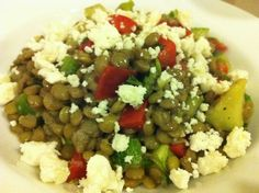 Lentils Salad with Feta Cheese, want to try it.