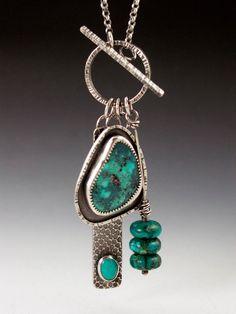 Turquoise Charm Necklace. $265.00, via Etsy.