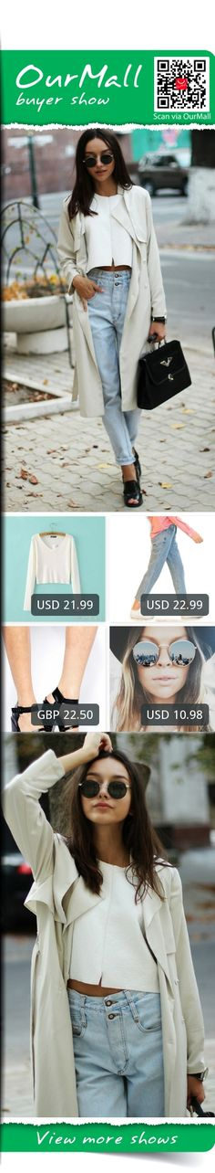 This is Beatrice Gutu's buyer show in OurMall;  1.Pullover Cropped Feminino Wool Knitted Short White Sweater Korean Fashion V-neck Jersey 2.Leg Boyfriend Jeans Loose Ankle BF Style Washed Denim Trousers Sky Blue Indigo 2017 3.ASOS HATFIELD Heeled Sandals 4.Round Sunglasses Wom... please click the picture for detail. http://ourmall.com/?2IJzay #coat #windbreaker #longcoat #springcoat #girlscoat #coatforwomen #femalecoat #trenchcoat #capecoat #rackcoat #womencoat