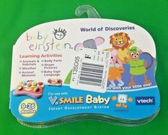 VTech VSmile Baby Einstein World of Discoveries New Sealed 9 - 36 Months #VTech