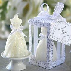 Exquisite Bridal Bride Shape Candle Wedding Party Favor Bridal Shower Boxed Gift