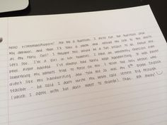 Literally this handwriting is so perfect I feel ashamed to write anything ever again