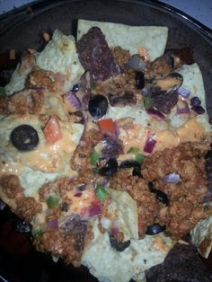 Vegan superbowl nachos!!!! (Cheddar daiya and taco bocca)