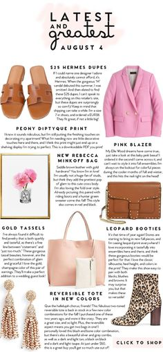 Latest and Greatest   August 4    best fashion and beauty this week    a lonestar state of southern