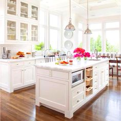 I love bright, bold colors, but there is just something so amazing about a white kitchen.
