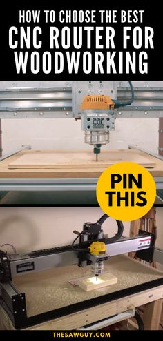 Having the right tools is important, more so if you plan to turn your hobby into a business. A good router will allow you to make cutouts, joinery, and hollow out wood with ease. Click on to learn how to choose the best CNC router for your woodworking needs.    #thesawguy #cncrouter #woodworkingrouter #woodworking101 #woodworkingtools #bestwoodworkingtools Best Wood Router, Cnc Router Table, Cnc Router Plans, Cnc Wood Router, Diy Cnc Router, Cnc Router Machine, Desktop Cnc Router, Wood Cnc Machine, Cnc Plans