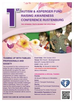 1st Autism and Asperger Fundraising Awareness Conference Rustenburg