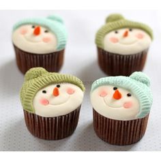 Snowman Cupcake  Christmas Desserts