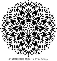 Portfólio de TAMSAM no Shutterstock Mandala Thigh Tattoo, Geometric Mandala Tattoo, Mandala Tattoo Design, Tattoo Designs, Stencils Mandala, Grim Reaper Tattoo, Paper Embroidery, Silhouette Art, Doodles