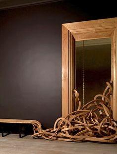 "veuve clicquot hotel du marc {pablo reinoso's reworking of his famous spaghetti bench,""cadre de vie""} :: reims, france"