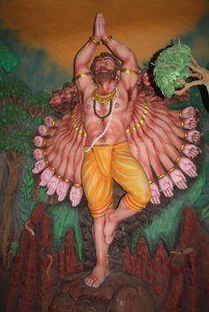 Ravana in Penance asking for Lord Shiva's Forgiveness