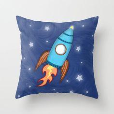 Rocket Pillow - Children's Nursery Pillow