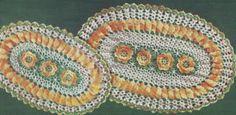 Vintage Crochet Pattern to Make Irish Rose Oval Doily Hot Pad Mat ...