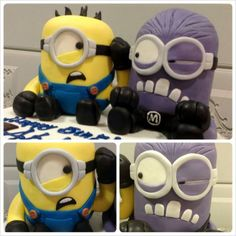 minions Vs crazy minions - by Maya Delices @ CakesDecor.com - cake decorating website