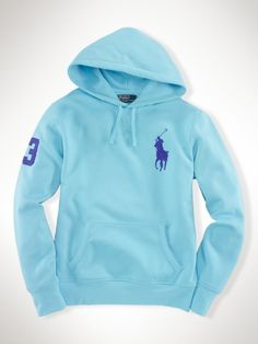 Ralph Lauren Red Big Pony Fleece Hooded