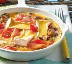Tomaten-Omelett mit Camembert Rezept
