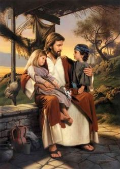 "Viisible Painting is ""As I Have Loved You"" by Simon Dewey. Pictures of Jesus with Children by Simon Dewey Simon Dewey, Jesus Reyes, Image Jesus, Pictures Of Christ, Church Pictures, Lds Art, Jesus Christus, Jesus Art, Biblical Art"