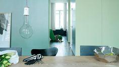 Gebruik frisgroene kleuren voor een natuurlijke lichtinval + kleuren en producten