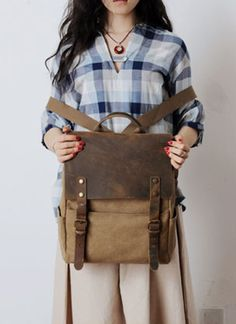Women's Bag  Purse  Backpack  Leather Backpack  by DuDuLeather, $55.90