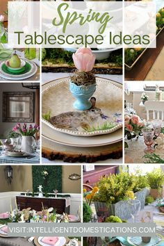 Use these Spring Tablescapes to inspire your spring decorating. Easy to make spring table centerpieces and simple earthy elements to decorate your table without spending too much. Pretty Easter tablescapes too. #tablescape #springdecorating Table Centerpieces, Table Decorations, Seasonal Celebration, Welcome Spring, Earthy, Tablescapes, Arts And Crafts, Inspire, Decorating