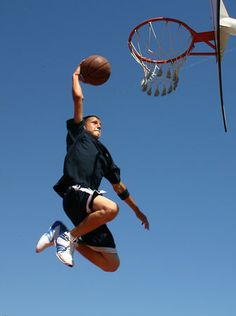 sports action shot dunk