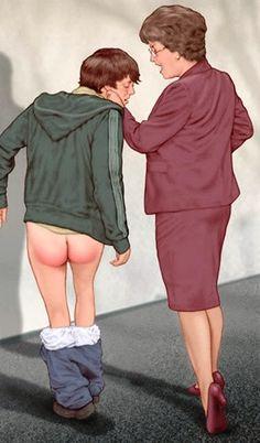 good boy spanking art