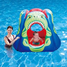 Turn your pool into a water park playground using this Piranha Floating Pool Habitat from Blue Wave. Pyramid like construction to prevent tipping. Swimming Pool Toys, Kid Pool, Activity Games, Fun Activities, Cool Pool Floats, Park Playground, Outdoor Recreation, Cool Pools, Beach Fun
