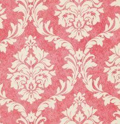 Stoff Ornamente - Verna Mosquera, Pirouette, Damask Flamingo - ein Designerstück von Rosenstoffe-Shop bei DaWanda