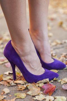 Fall heels, purple s