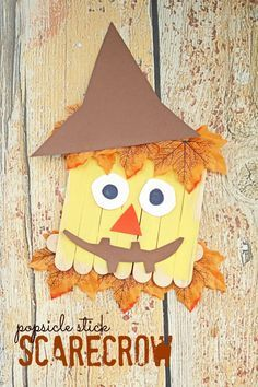This Popsicle Stick Scarecrow is as simple as it gets and it's perfect for the upcoming fall season too, perfect for children of ALL ages!