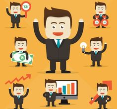 Here are examples to prove that happy employees are important component to having a healthy profit margin to your business. Character Design Tips, Character Design References, Office Cartoon, Map Icons, Finance, Men Design, Flat Design, Vector Photo, Free Download