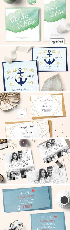 Traumhaft schöne Hochzeitseinladungen von myprintcard. Modern, trendig, romantisch, edel - Finde Dein Design!#hochzeit#einladung#hochzeitseinladung#romantisch#grün#blau#holz#rustikal#myprintcard#modern#vintage#ausgefallen#hochwertig#edel#chalkboard#blumen#bunt#blumenkranz#maritim#spitze#lace#rosen