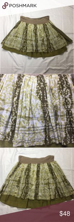 New Free People Layered Skirt Size 10 New Free People layered skirt. Size 10. Length approximately 17 inches. 100% cotton Free People Skirts Mini