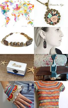 Travel the World by Gabbie on Etsy #etsy #treasury #finds #travel #beige
