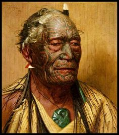 1934 oil painting by Goldie of the Ngapuhi leader Tamati Waka Nene (1780s?-1871). https://www.facebook.com/New-Zealand-History-Natural-History-267744546741095/photos/?tab=album&album_id=267767313405485
