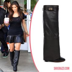 Kimye shoedazzle boots with leather tennis skirt