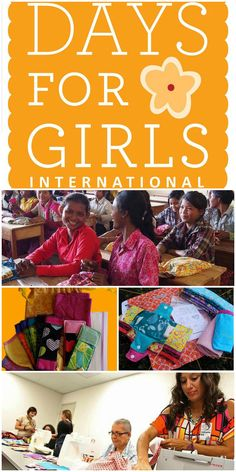 What a great organization! Days for girls international Find out how you can help!  Sew or donate.