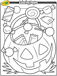 free printable halloween candy coloring pages