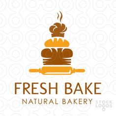 Logo Sold Sweet, creative logo design that contains different stacked breads. This unique logo design will set your bakery shop apart from your competition! Baking Logo, Bakery Logo Design, Logo Cookies, Cafe Logo, Logo Restaurant, Great Logos, Unique Logo, Logo Food, Shop Logo