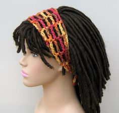 Melon brown Dread headband dreadband head hair band wrap scarf hippie bandana by PurpleSageDesignz on Etsy https://www.etsy.com/listing/115467313/melon-brown-dread-headband-dreadband