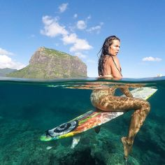 Beautiful #underwater shooting of @scarlett.delatorre at Le Morne #Mauritius this week.   Pic by @marine.fantasea