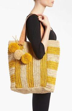 Crochet Handbags Mar y Sol crochet Tote bag - Bag Crochet, Crochet Handbags, Crochet Purses, Love Crochet, Crochet Crafts, Crochet Projects, Couture Cuir, Sacs Tote Bags, Knitted Bags