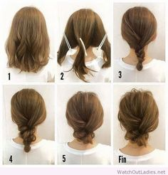 How to do a braid low bun #BunHairstylesLow