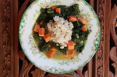 Kale and Sweet Potato soup. This is what is for dinner.