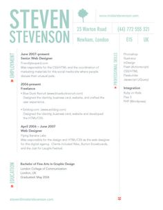 1000+ images about Resume Designs on Pinterest | Resume design ...